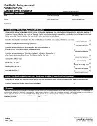 Fillable Online Return of Mistaken Distribution - Fidelity ... |Hsa Distribution Form